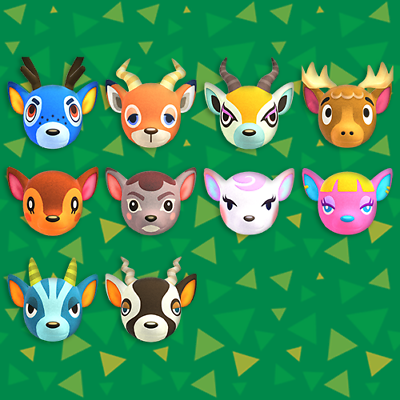 Deer villager of your choice-read description-animal ...