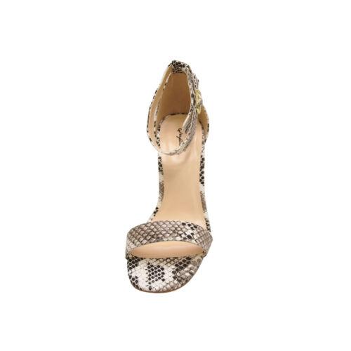 Women/'s Shoes Qupid Hurst 01 Open Toe Ankle Strap Sandal Heels Snake *New*