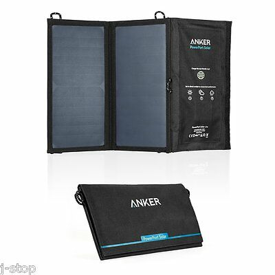 Anker PowerPort Solar Lite 15W Dual-Port USB Portable Charger iPhone 6/Galaxy S7
