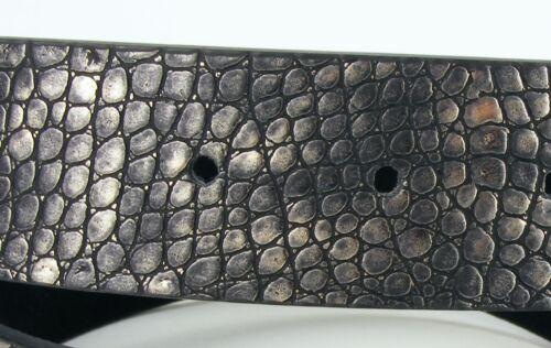 Designer  Damengürtel Schlangenleder Optik grau schwarz silber SI2D