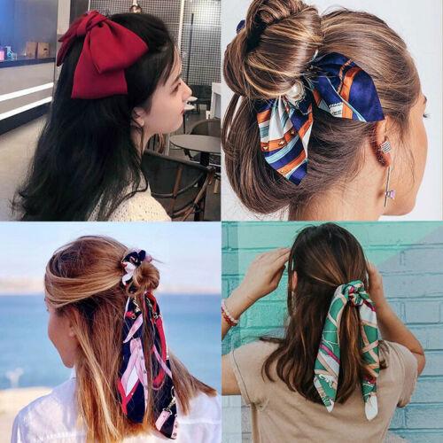 Scrunchie Women Hair Scarf Elastic Hairband Bow Hair Rubber Ropes Hair Ties