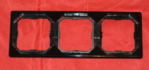 20 Merten OCTOCOLOR 3-fach Rahmen schwarz 399322 Neu