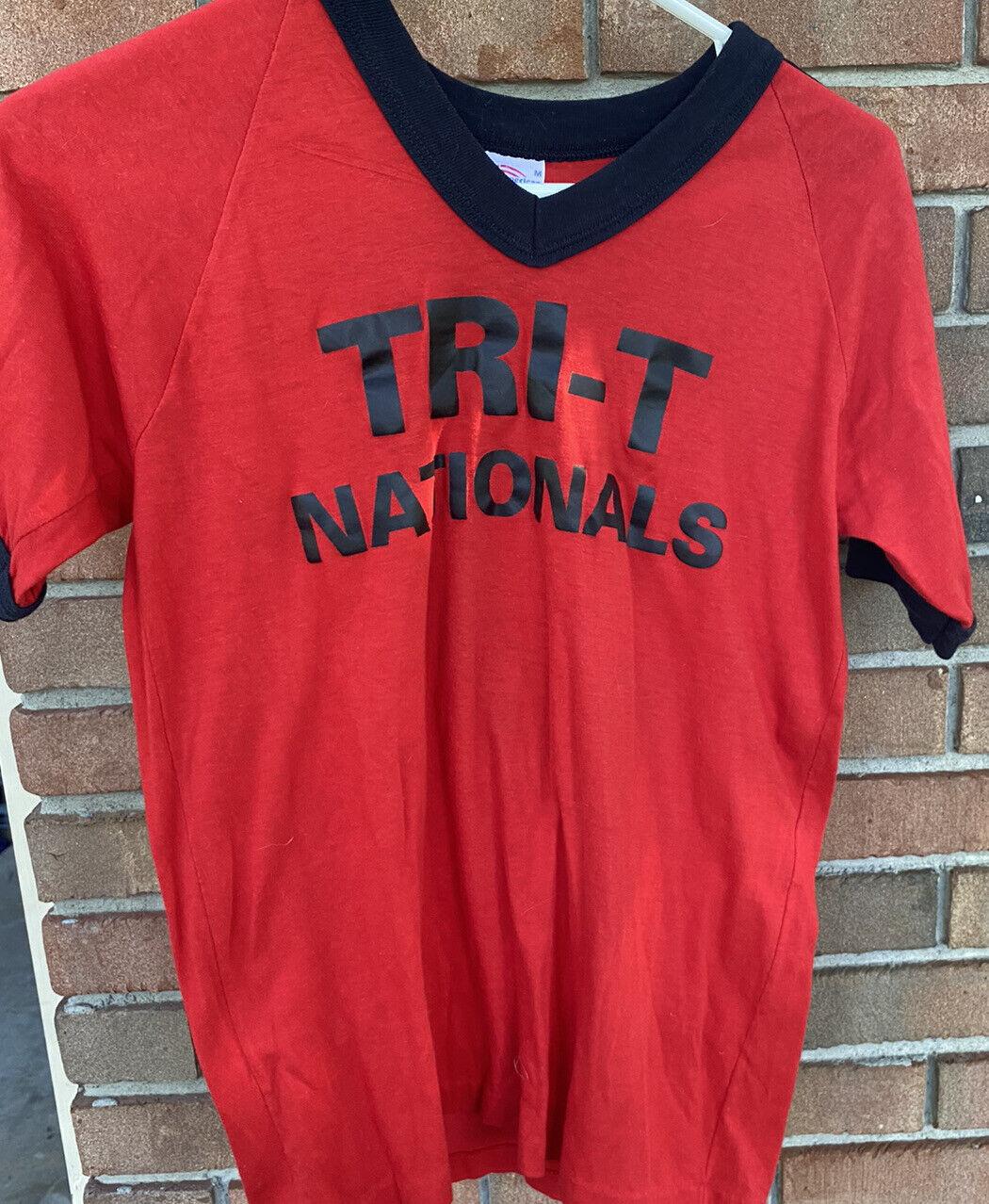 Vintage Pony Baseball Tournament Team T Shirt TRI T Nationals Number 7