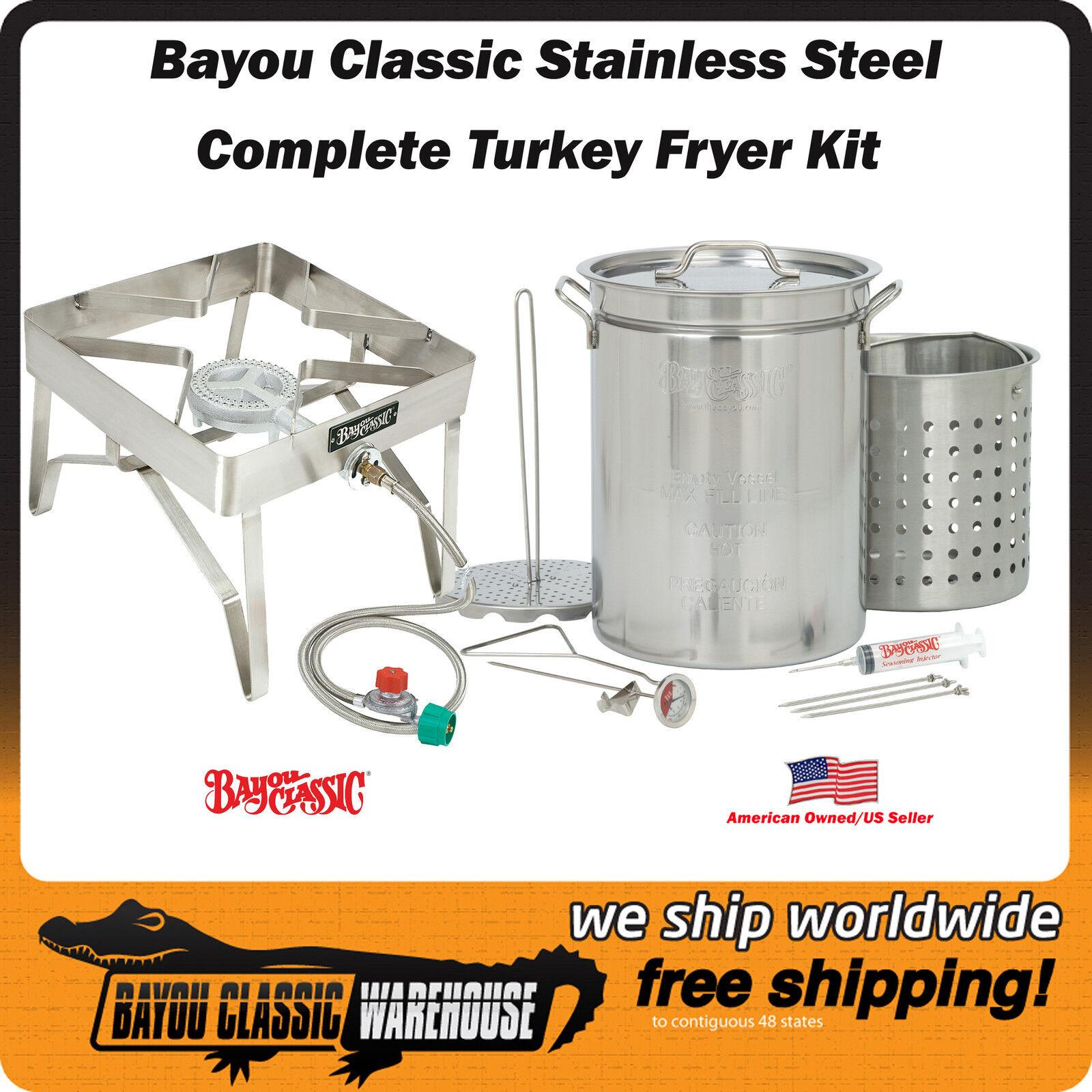 Acier inoxydable de qualité commerciale Turquie friteuse kit complet 32 QT Top Qualité