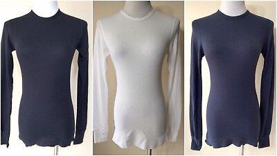 AMERICAN APPAREL Women Long Sleeve T-Shirt Size XS Cotton Blend Top Casual Tee