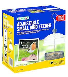 GARDMAN VISION HANGING FEEDER HQ PLASTIC PERFECT ROBIN SMALL BIRD FEEDER A01327