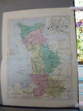 Carte géographique couleur 19°: MANCHE avec  plan de SAINT-LO