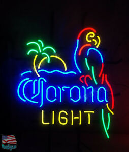 Corona light parrot with palm tree beer neon sign 20x16 from usa image is loading corona light parrot with palm tree beer neon solutioingenieria Choice Image