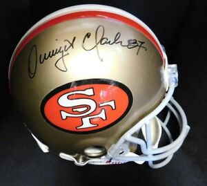 b3cb5d5c5e8 Image is loading Dwight-Clark-Signed-San-Francisco-49Ers-Authentic-Riddell-