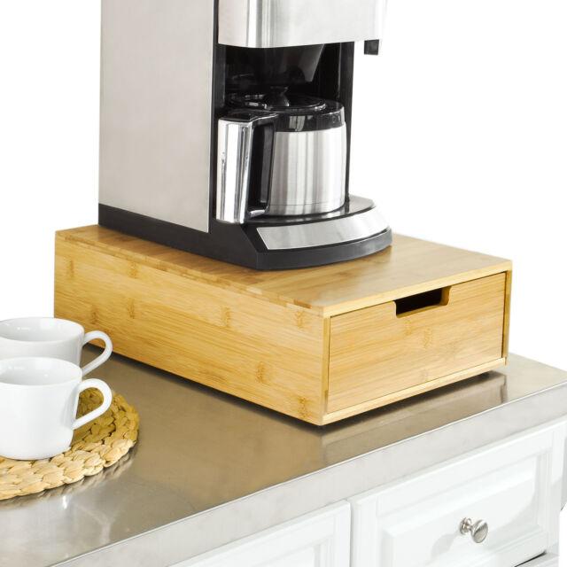 So Bamboo Coffee Machine Stand Pod Capsule Teabags Holder Drawer