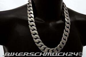 Grosse-Biker-Halskette-Panzerkette-XXL-extra-schwer-Edelstahl-ca-2-5-cm-breit