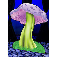 Giant Mushroon Standee Wonderland Theme Decoration Cardboard Cutout