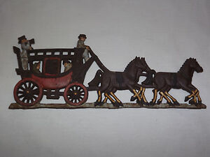 vintage horse amp carriage hand painted iron metal wall