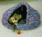 DOMED PET BED FOR SMALL ANIMALS HOME DECOR CROCHET PATTERN INSTRUCTIONS
