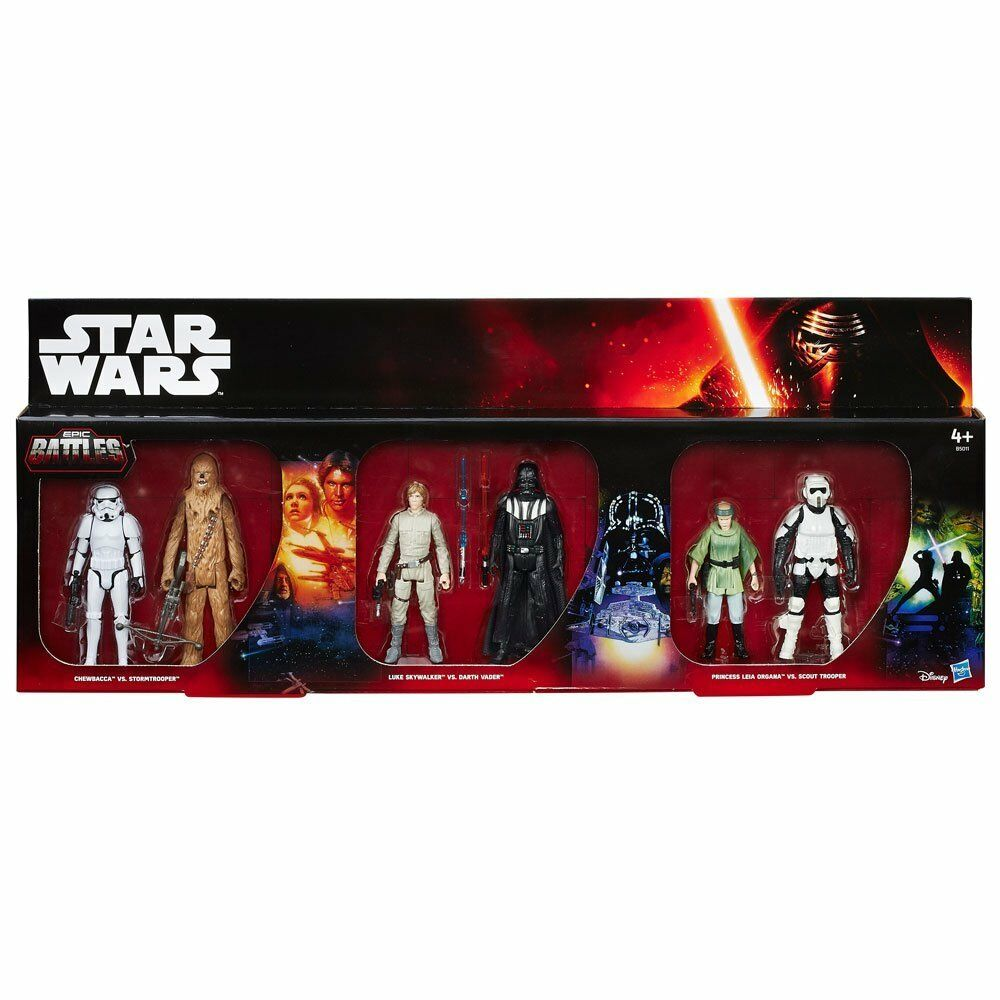 Hasbro Star Wars 6 Pack Exclusive Edition Action Figure 10cm Episode 4-5-6