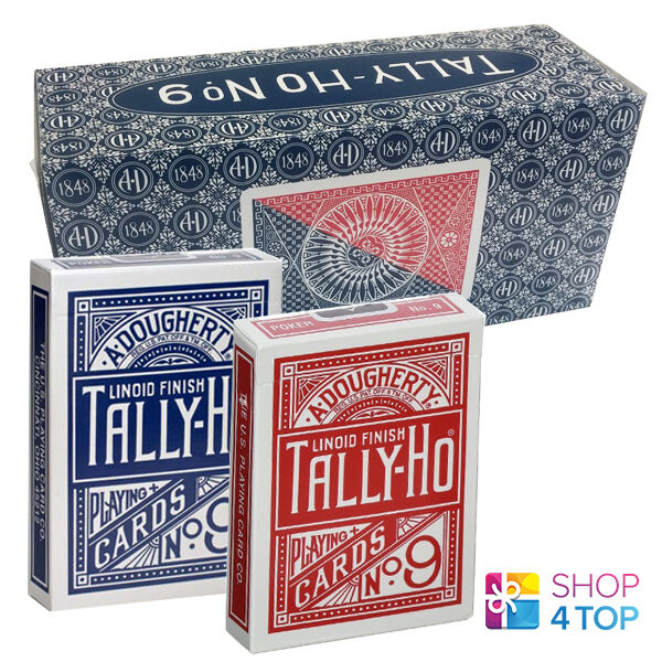 12 DECKS BICYCLE TALLY HO CIRCLE PLAYING CARDS STANDARD INDEX SEALED BOX CASE