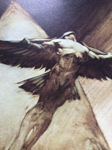 FRANK FRAZETTA Bird man  FANTASY Litho PRINT 12x16 Vintage Full Color #64