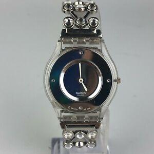 Swatch-Womens-Swiss-Made-Silver-Stainless-Steel-Bracelet-Wristwatch-AG-2008