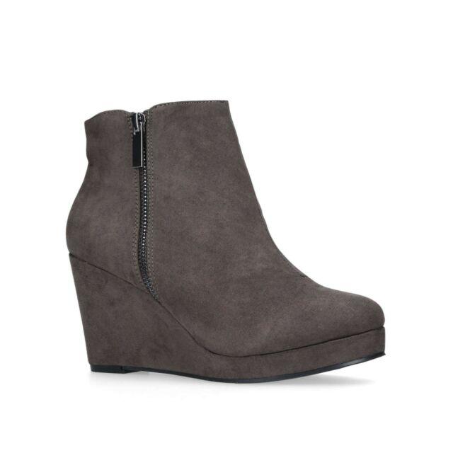 dfa50cd56d6 Grey Ankle Boots Size 6 Kurt Geiger Ladies Wedge Heel Zip Boot Miss KG NEW