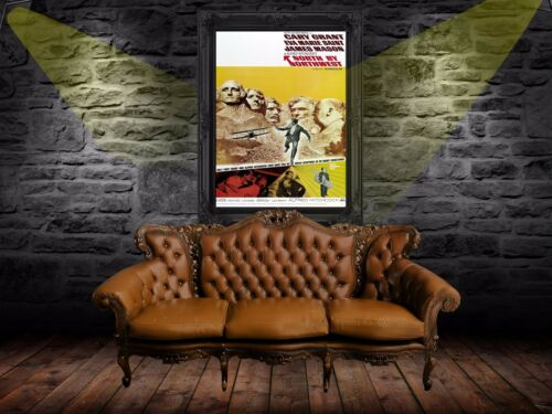 North by Northwest 1959 Retro Movie Poster A0-A1-A2-A3-A4-A5-A6-MAXI 657