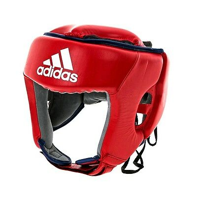 MMA adidas Leather Thai Boxing Training Head Guard Muay Thai