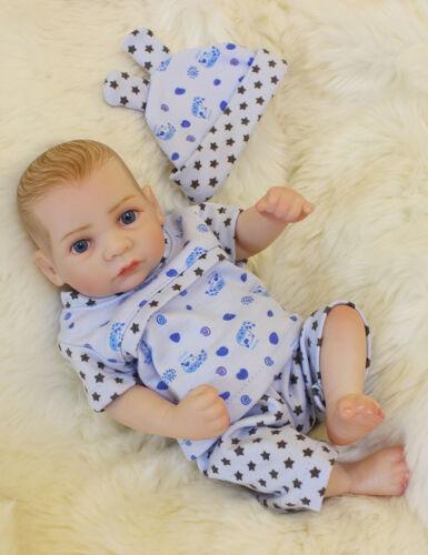 """Reborn Baby Boy Doll 10/"""" Full Body Vinyl Silicone Washable Mini Dolls Realistic"""