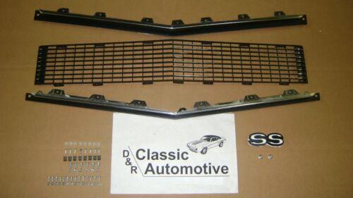 SS Emblem 67 68 RS w//Chrome Highlights Hardware Grill Kit 70pc w// Moldings