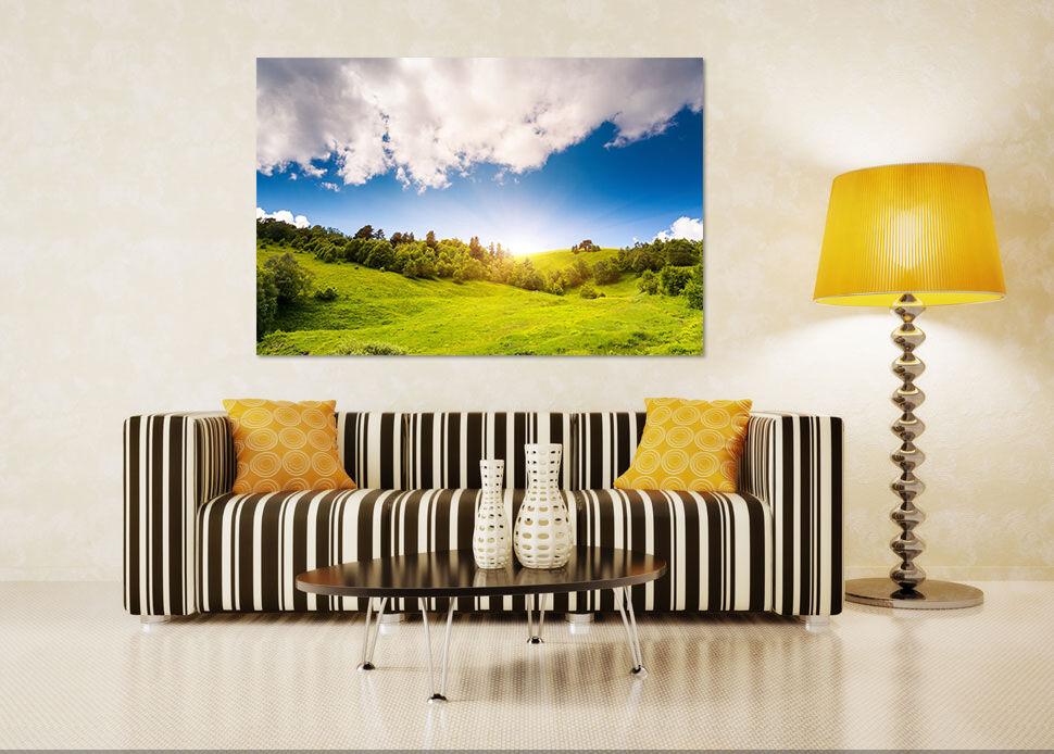 3D Cloud Sky Grass 1 Wall Stickers Vinyl Wall Murals Print Decal Art AJ STORE CA