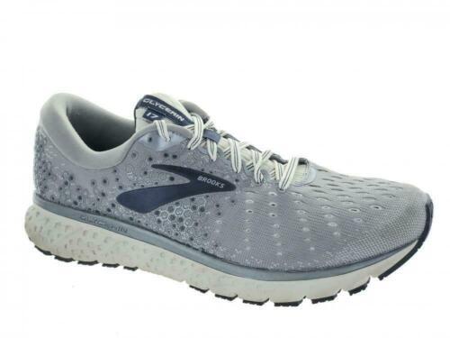 Men/'s Brooks Glycerin 17 Running Chaussures De Sport Gris Noir Gris Bleu Marine Or