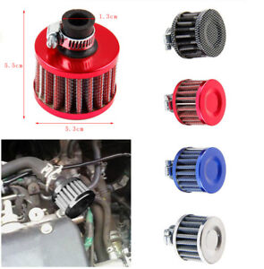 Car-Vehicle-Motor-Cold-Air-Intake-Filter-Turbo-Vent-Crankcase-Breather-12mm