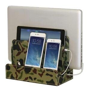 Elegant Image Is Loading G U S Camo Multi Device Charging Station For Smartphones