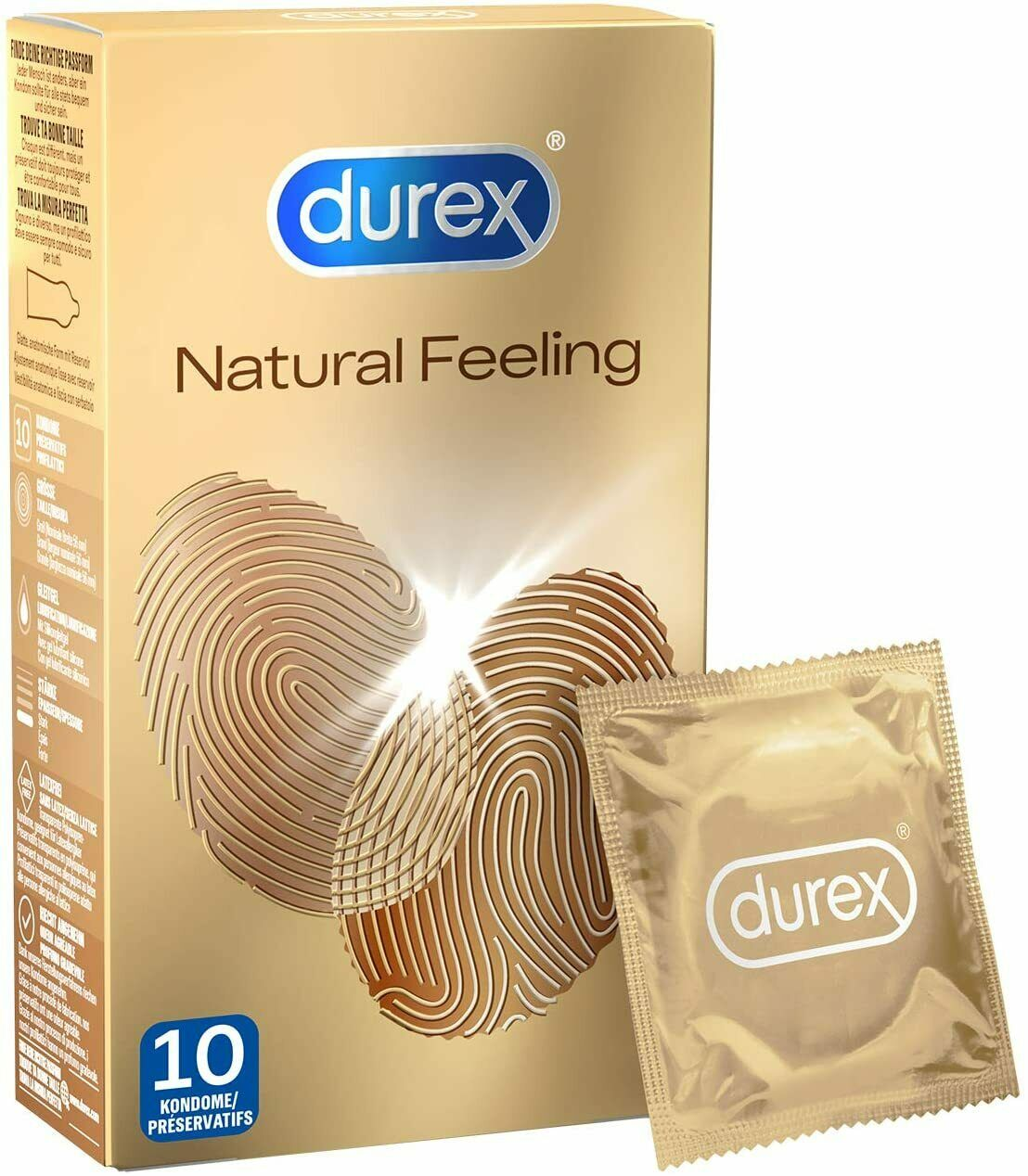 Durex Natural Feeling Kondome Latexfreie Kondome 1 x 10 Stück