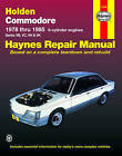 Holden Commodore Australian Automotive Repair Manual: 1978 to 1985 by J. H. Haynes, Tim Imhoff (Paperback, 2000)
