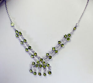 elegant-Peridot-925-Solid-Sterling-Silver-Green-Necklace-genuine-supply-US-gift