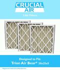 3 Trion Air Bear Filter 255649-102 Pleated Furnace Air Filter 20x25x5 MERV 8