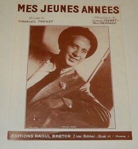 Partition MES JEUNES ANNEES - Charles TRENET & Marc HERRAND 1976