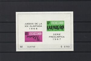 mexico 1967 olympics  mint never hinged stamps sheet ref r12602