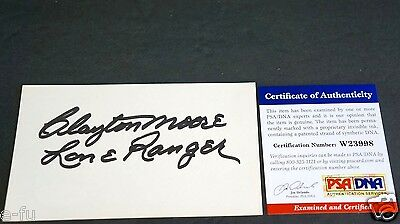 Entertainment Memorabilia Cards & Papers Enthusiastic Clayton Moore Signed 3x5 The Lone Ranger Inscription Auto Psa/dna Coa Autograph Elegant In Style