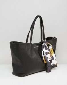 d279bc35f1 Details about Love moschino cow scarf shopper bag