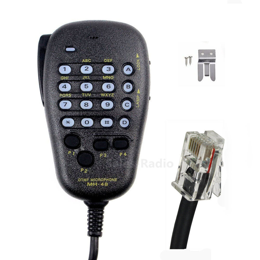 MH-48 6Pin DTMF Microphone For Yaesu FT-2980R FT-3100R FT-1500M FT-2800M FT-1900. Available Now for 13.02