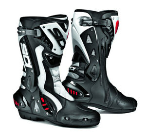 SIDI-ST-BLACK-WHITE-MOTORCYCLE-SPORTS-RACE-BOOTS