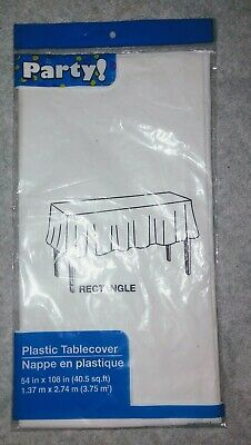 Rectangle Table Cloth 54 By 108 Inches New In Package White For Parties 639277035011 Ebay How far is 108 inches in feet? ebay