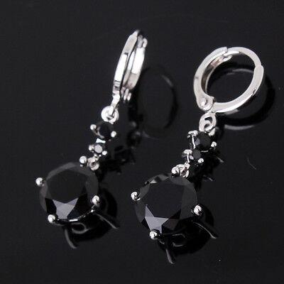Acctractive 18k white gold filled friendship Swarovski crystal dangle earring