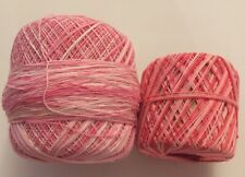 "GGH /""CHICLANA/"" Nubby Novelty Yarn Color#3 Red//Pinks"