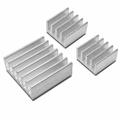 3pcs Aluminum Heatsink - Protect Over Clocking for Raspberry Pi 3, 2, B+, B, A+