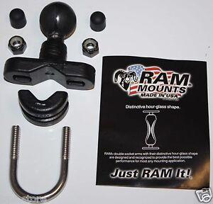 Motorcycle-Handlebar-1-034-Ball-Mount-fit-for-Garmin-Zumo-450-550-Series-GPS-Cradle
