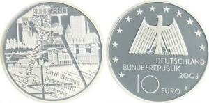 Ruhr Area 2003 Mint Mark J Proof, IN Coin Capsule
