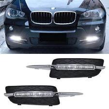 BMW X5 E70 07-09 LED DRL Daytime Running Lights Fog Lamp Bumper Bolt-On Design