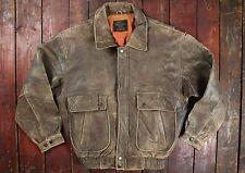 De Colección USAAF tipo G-1 marrón cuero chaqueta de bombardero de vuelo medio de las herramientas de la vida