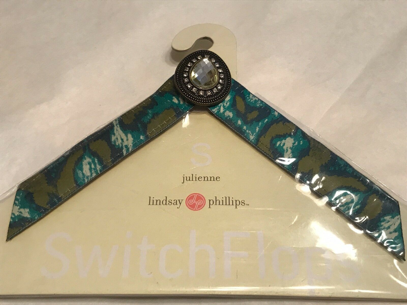New Lindsay Phillips SwitchFlops Julienne Straps turquoise multi small 5-6